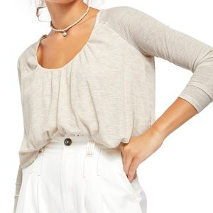Free People Bondi Long Sleeve Blouson Thermal Top